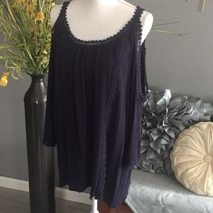 Tops - Cold Shoulder Tunic